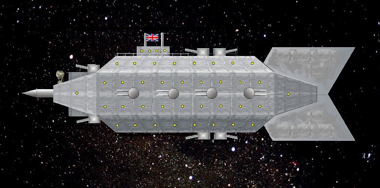 The HMS Perseverance in space.
